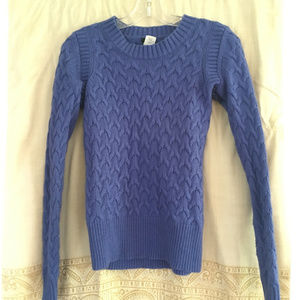 Wool and Angora Blend Cable-Knit J Crew Sweater